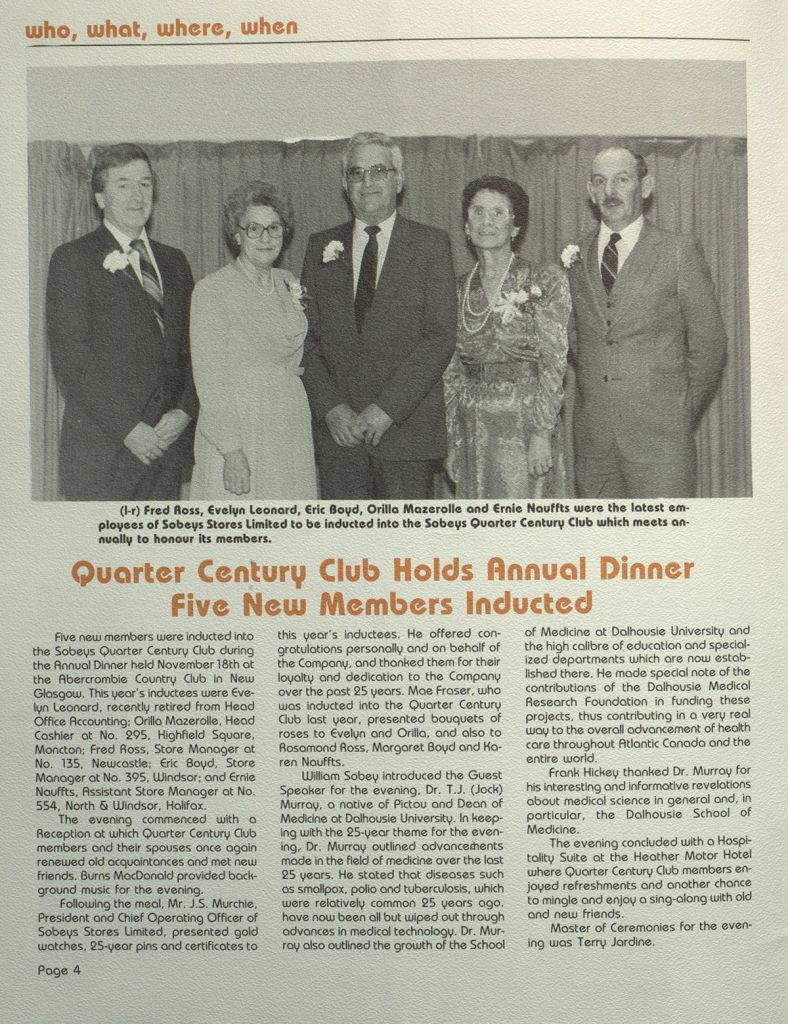 Historical newspaper article about new inductees