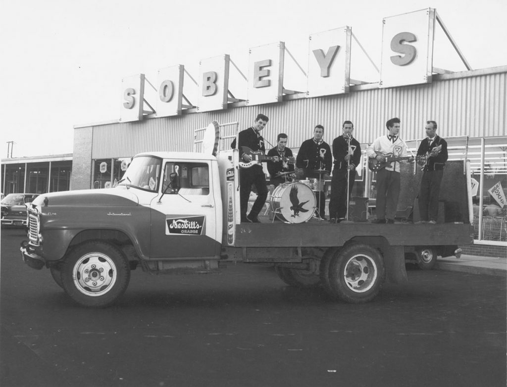 Historical photo of Sobeys truck in a parade