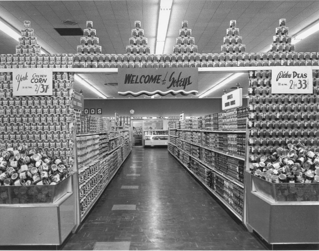 Historical photo of Sobeys store interior